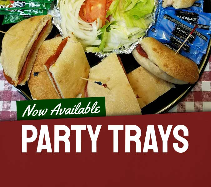 Party trays now available