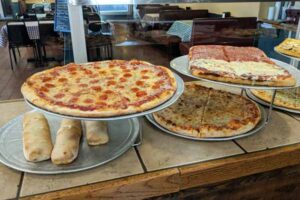 pizzas and pepperoni rolls