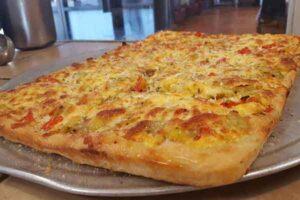 Specialty square pizza